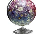 Everlasting Bouquet Globe, Vintage Globe Art