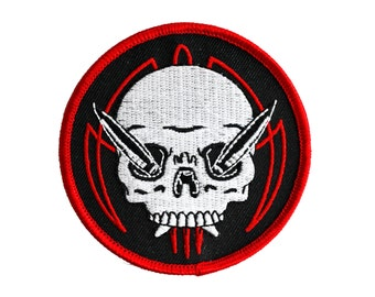 Pinstriper Skull Patch - Lowbrow Pinstriping Kustom Kulture Embroidered Patch