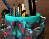 Quilted Sewing Caddy-Organizer Cover for Coffee Cans