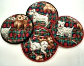 Scotty Dogs Cloth Coaster Set of 4    Set # 25