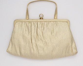 Vintage Gold Lamé 1950's Clutch
