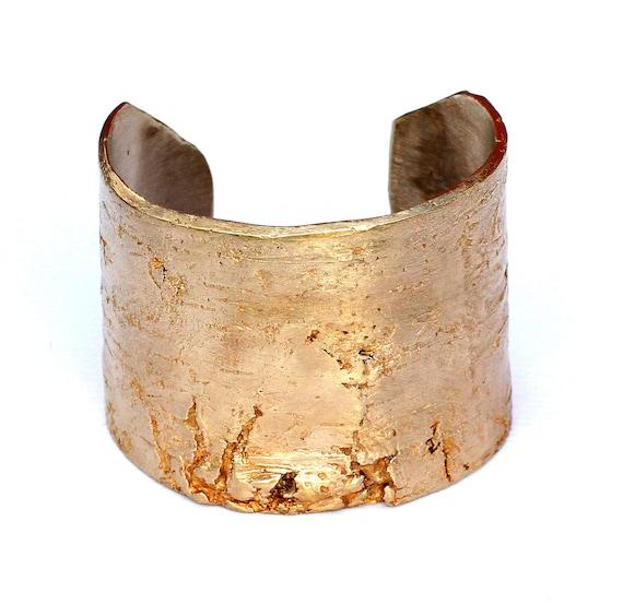 Golden Birch Bark Cuff