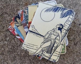 Slim Wallet- 40's Hawaiian Art Postcard- Choose 1
