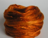 SILK Top Roving Sliver Mulberry CULTIVATED Fiber FALL Luxurious Supreme Quality Hand Painted for Handspinning 2 oz A1 premium spin fusion
