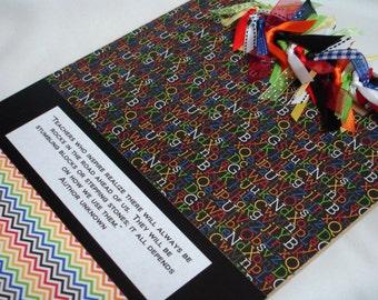Rainbow Alphabet TEACHER CLIPBOARD Inspirational Quote