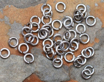 Small Thick Jumprings, 5.5mm Antique Silver, Nunn Designs Pick Your Own Bulk Price