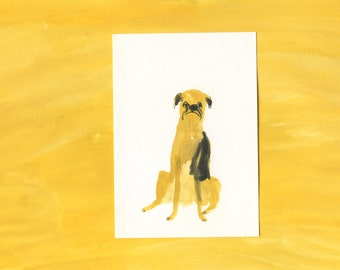 Original dog painting portrait - 100 Hideous Hounds - No. 87