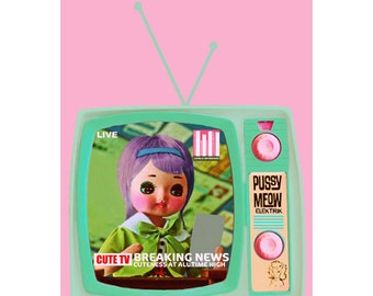 doll print pose doll  news anchor 5 X 7 CUTE TV