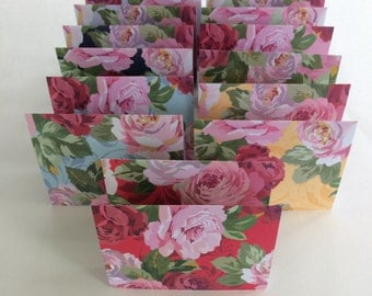 Mini Cards 14 Roses -blank for thank you notes 3 x 4