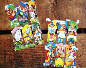 Vintage Style Nursery Rhyme Characters German Scraps (Diecuts / Cutouts)