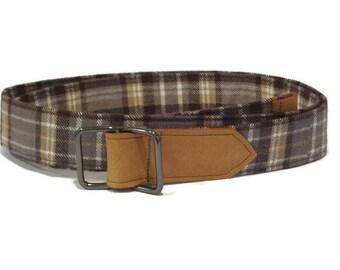 Checkered D Ring Belt