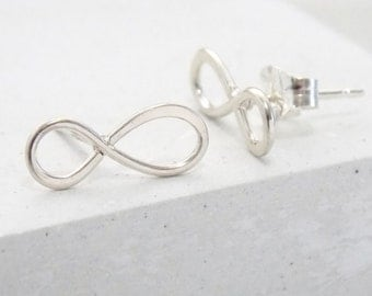 Stud Earrings | Infinity Studs, Stud Earrings, Tiny Studs, Post Earrings, Small Stud Earrings, Post Earring, Minimalist Jewelry, Bridesmaids