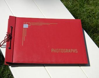 SALE Vintage scrapbook photograph album