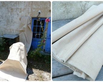 Antique linen homespun hemp crinkly linen /7 yards