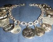 Vintage Saint Medal Charm Bracelet inv1246