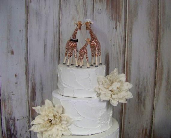 Giraffe Cake Topper Giraffes With Baby Giraffe Wedding Cake