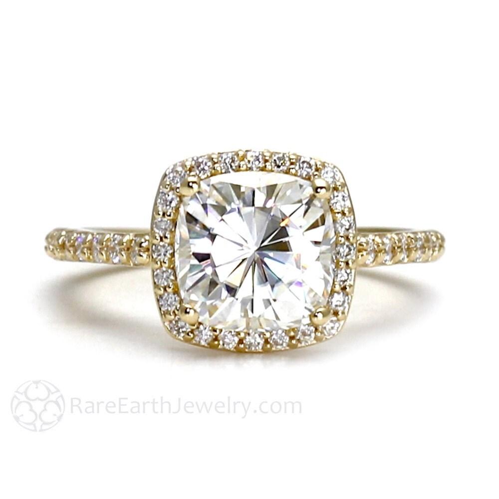 moissanite engagement ring forever brilliant moissanite ring