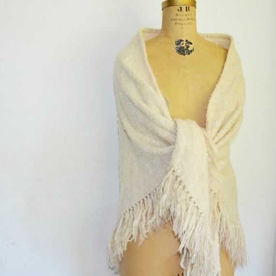 Vintage Wool Shawl 53