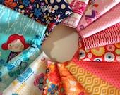 Cherry Blossom Garden Rainbow fabric bundle by Robert Kaufman Fabrics- Rainbow Bundle of 15. You Choose the Cut. Free Shipping Available