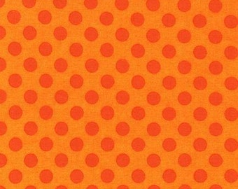Spot On fabric by Robert Kaufman and Fabric Shoppe - Spot on Medium Dot in Flame- You Choose the Cut, Free Shipping Available