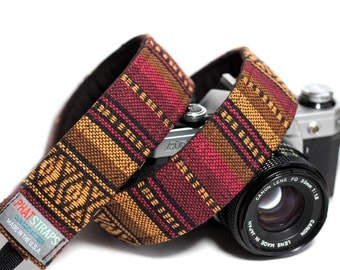 Native American Camera Strap - Tribal, Aztec, Navajo - Muskogee