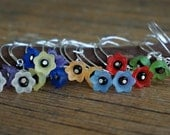 Garden Path Hoop earrings -- Choose your color