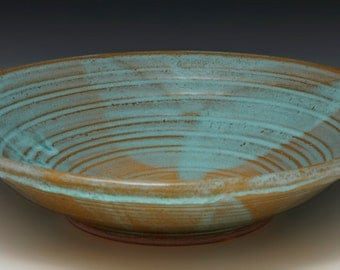 Stoneware serving bowl thrown and altered BB10