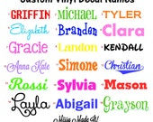 Custom Name Vinyl Decal - Personalized Vinyl Sticker - Use For Car Decal School Supplies Use For Tumbler Water Bottle Name iPad Tablet Name