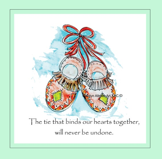 "Aztec Moccasins Art Print, ""The Ties That Bind"""