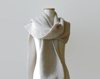 Ivory Wool Scarf, Extra Long Scarf, Huge Scarf, Womens Scarves, Mens Scarf, Wrap Scarf, Blanket Scarf, Wool Scarf, Long Scarf, Winter Scarf