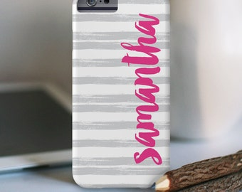 iPhone 6s Personalized Case  -Brush strokes with name  - other models available