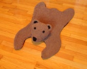 Faux bearskin rug, nursery decor, faux taxidermy, grizzly bear