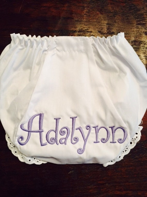 Personalized Diaper Cover for Girls