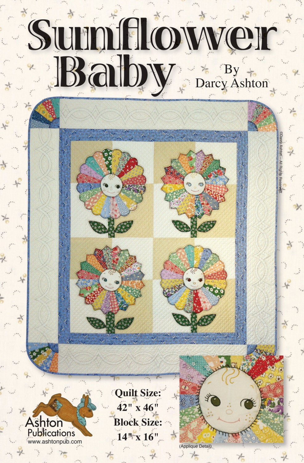 Sunflower Baby Quilt Pattern By Ashtonpublications On Etsy
