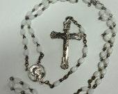 Vintage Child's Polish Rosary Glass Beads