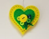 Felt Heart Embellished with Buttons