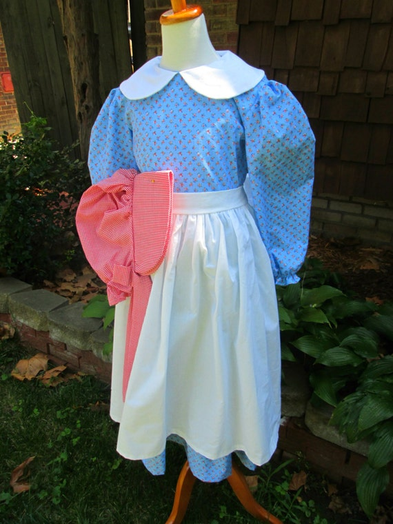 Vintage Style Children's Clothing: Girls, Boys, Baby, Toddler Kirsten dress for Girls /Little House on the Prairie Costume... Made to order ONLY(PLEASE check lead time inside of ad ) $64.00 AT vintagedancer.com