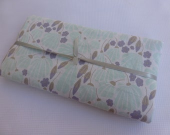 Security Blanket or Doll Blanket - Breezy Floral Turquoise