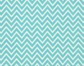 Destash Premier Prints Fabric. TURQUOISE Blue COSMOS CHEVRON by the yard. Cotton Home Decor Material. Modern Design Interiors. SewGracious.