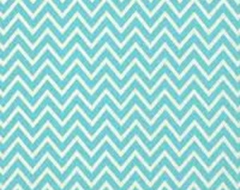 Destash Premier Prints Fabric. TURQUOISE Blue COSMOS CHEVRON by the yard. Cotton Home Decor Material. Modern Design Interiors. SewGracious.
