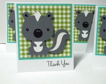 Skunk note cards set of 8