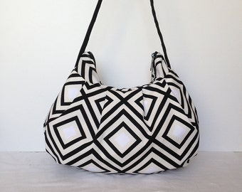 Pleated Bag // Shoulder Purse - Diamonds in Pepper