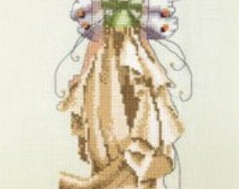 Cross Stitch Pattern, Lilly Counted Cross Stitch Pattern, by Nora Corbett, Mirabilia Designs, Pixie Couture Collection, WI
