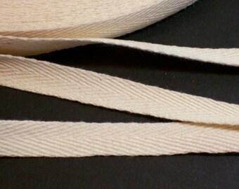 Beige Twill Tape, Beige Cotton Twill Tape Ribbon 1/2 inch wide x 5 yards, Beige Twill Tape
