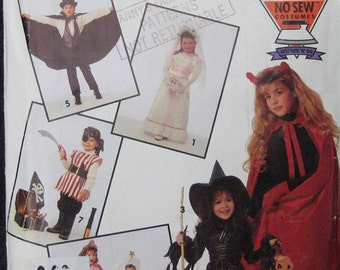 Simplicity Easy No Sew Childrens Costume Pattern 0632