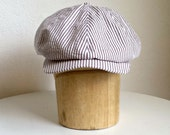 Men's Cotton Newsboy Cap - READY TO SHIP via 3 Day Priority