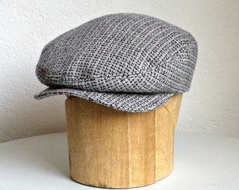 Mens Gray Wool Driving Cap - Flat Cap - Made to Order - 4 to 6 Weeks to Ship