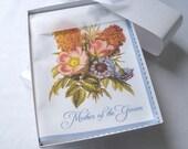 Mother of the groom wedding handkerchief, flowers hankerchief, mother of the groom wedding gift, wedding favor, non-custom