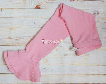 Pink Ruffle Leggings Petal Pants Ruffle Pants Ruffle Leggings Double Ruffle Petal Pants