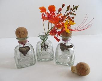 Altered Mini Patron Tequila Bottles-Decorative Vases
